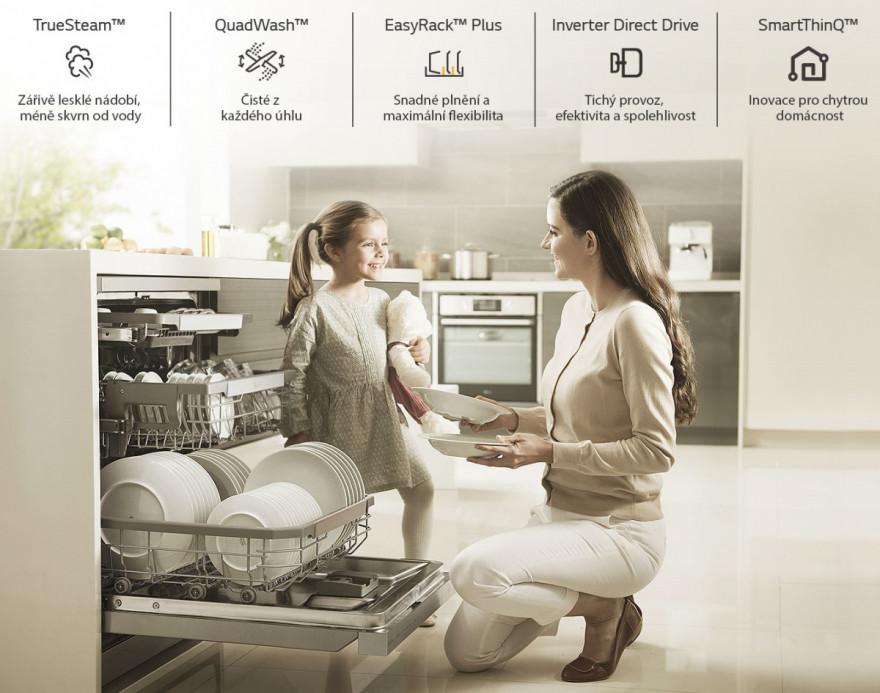 Důvody, proč koupit myčku nádobí LG