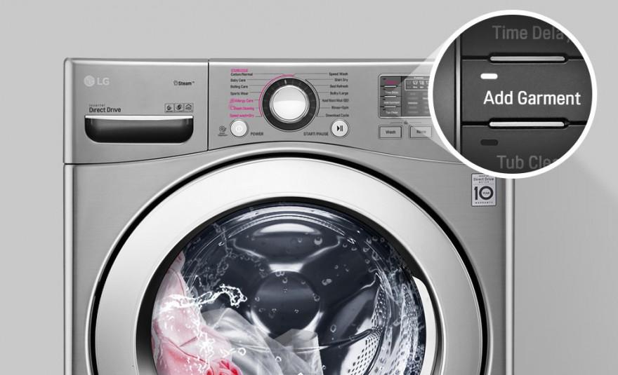 Přidání prádla