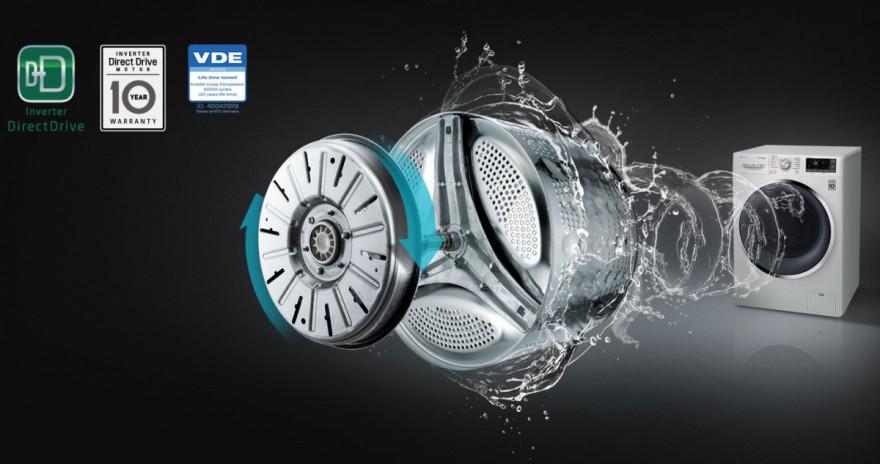 10 let záruky na motor LG Direct Drive