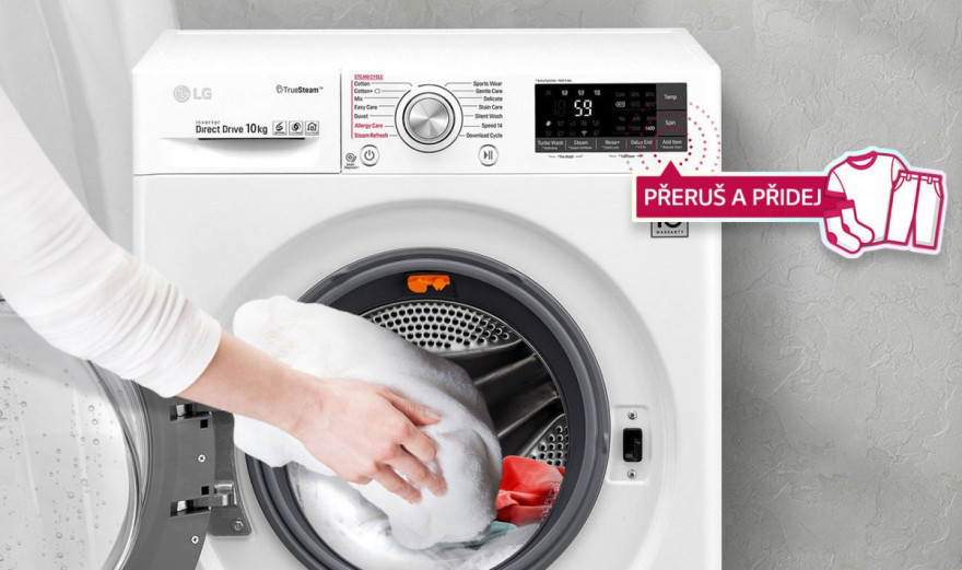 Přidejte zapomenuté prádlo i během praní