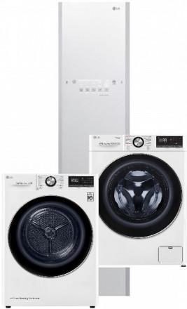 LG F4WV909P2 + LG RC91V9AV2W + LG Styler S3WERB White