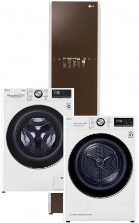LG F4WV910P2 + LG RC91V9AV2W + LG Styler S3RERB Espresso