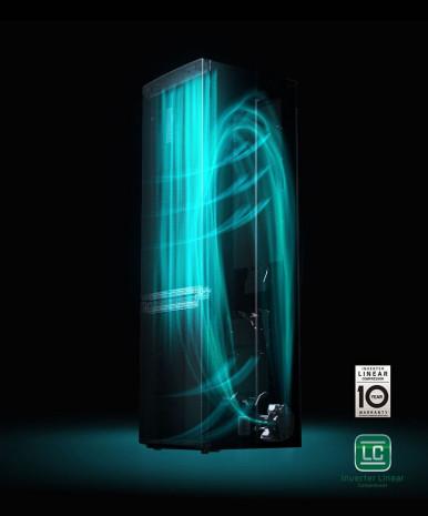 10letá záruka na lineární kompresor