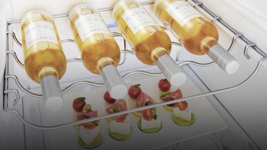 Velkorysý stojan na víno