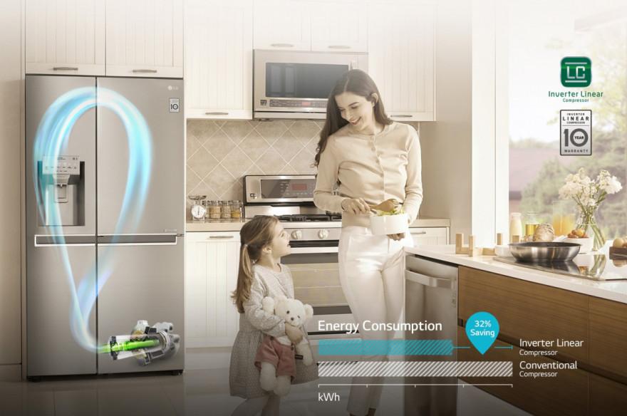 10 let záruky na LG Lineární kompresor