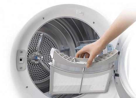 Udržuje prádlo i sušičku čisté
