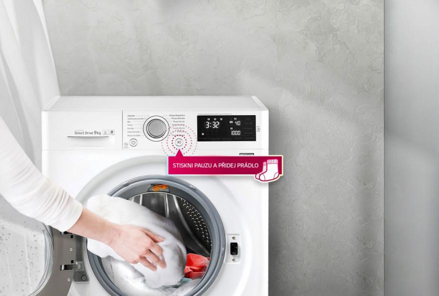 Přidejte prádlo i během praní